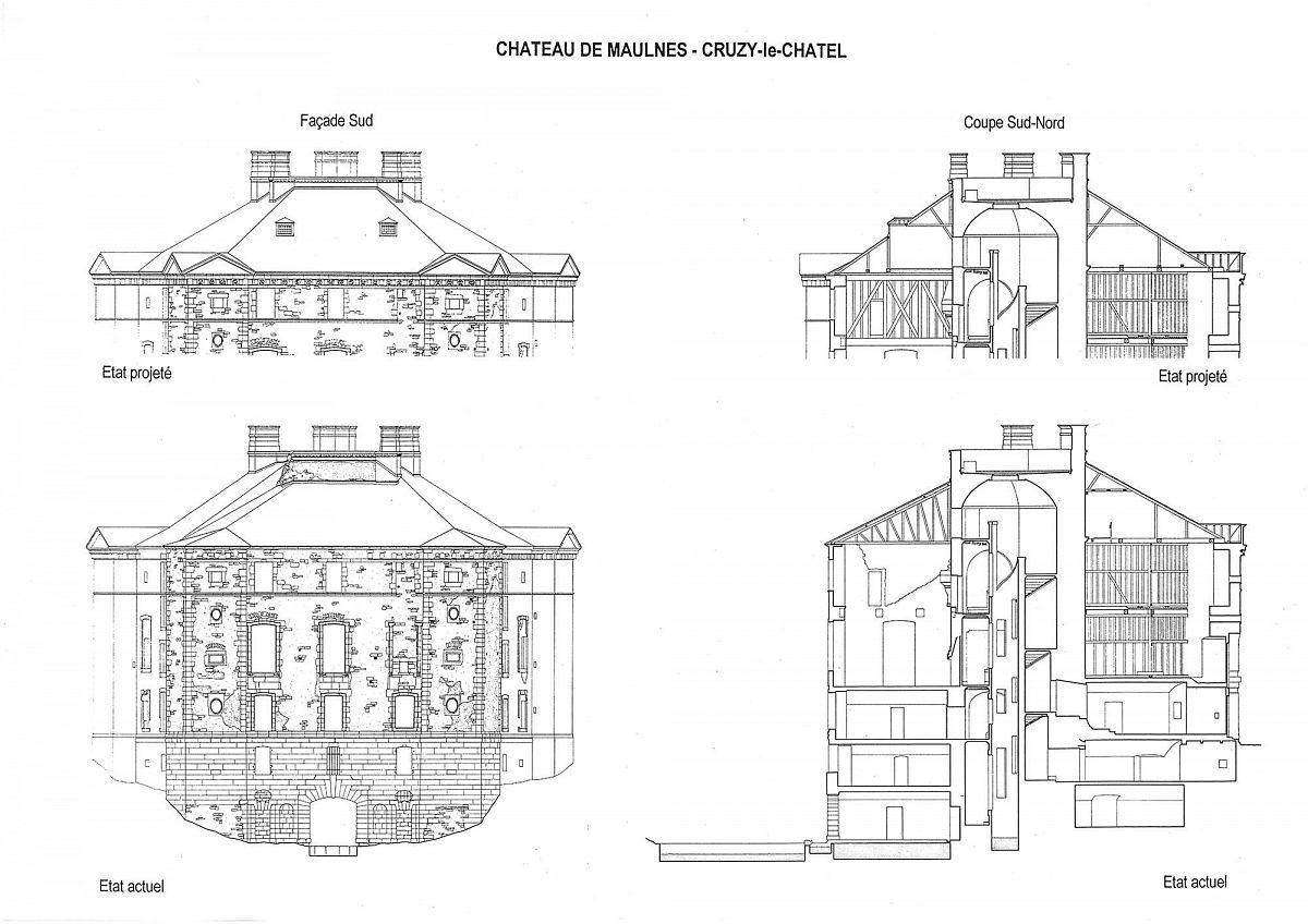 Cruzy-le-Chatel - Chateau de Maulnes  (89) [2]
